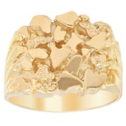 Men's 14k Gold Over Silver Nugget Ring