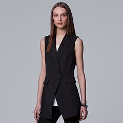 Women's Simply Vera Vera Wang Double-Breasted Vest