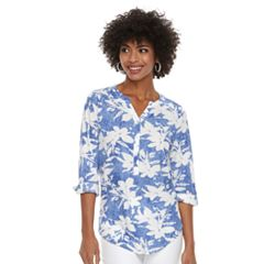 Women's Cathy Daniels Floral Roll-Tab Shirt