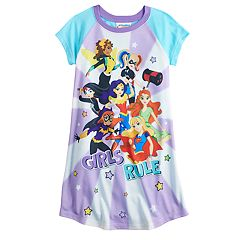 Girls 4-10 DC Super Hero Girls 'Girls Rule' Dorm Nightgown