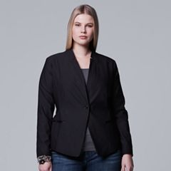 Plus Size Simply Vera Vera Wang Crop Blazer