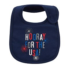 Baby Carter's 'Hooray For The USA' Fireworks Bib