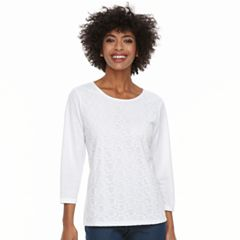 Women's Cathy Daniels Lace-Front Top