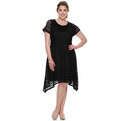 Plus Size Dana Buchman Sharkbite Lace Dress