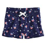 Disney's Minnie Mouse Girls 4-10 Patriotic Print Slubbed Shorts by Jumping Beans®