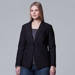 Plus Size Simply Vera Vera Wang Modern Blazer