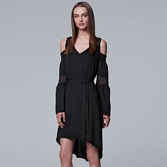 Women's Simply Vera Vera Wang High-Low Hem Cold Shoulder Dress