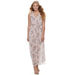 Juniors' Lily Rose Sleeveless Floral Maxi Dress