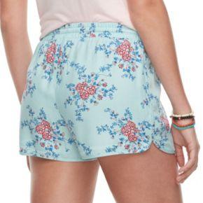 Juniors' Pink Republic Print Soft Shorts