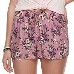 Juniors' Pink Republic Print Soft Shorts