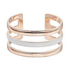 Three Band Epoxy Cuff Bracelet