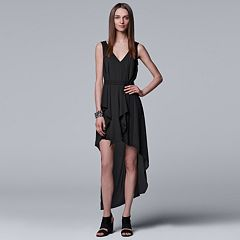 Women's Simply Vera Vera Wang Ruffled High-Low Hem Dress