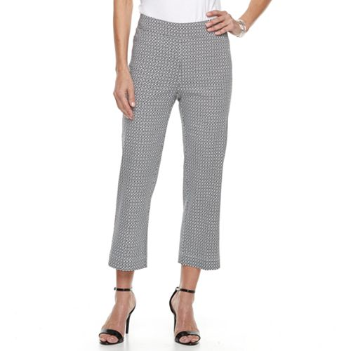 Women's Cathy Daniels Millenium Print Pull-On Ankle Pants