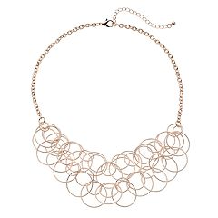 Textured Circle Statement Necklace