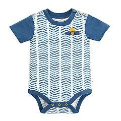 Baby Boy Burt's Bees Baby Chevron Organic Bodysuit