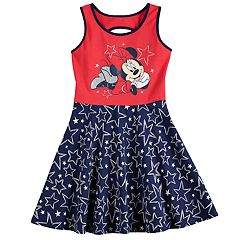 Disney's Minnie Mouse Girls 4-10 Glittery Graphic Patriotic Skater Dress by Jumping Beans®