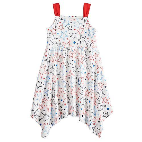 Girls 4-10 Jumping Beans® Star Handkerchief Hem Dress