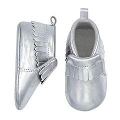 Baby Goldbug Faux-Suede Fringe Moccasin Crib Shoes