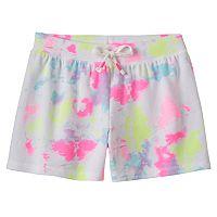 Girls Plus Size SO® Tie-Dye Drawstring Shortie Shorts