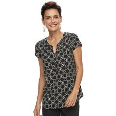 Women's Croft & Barrow® Print Henley Top