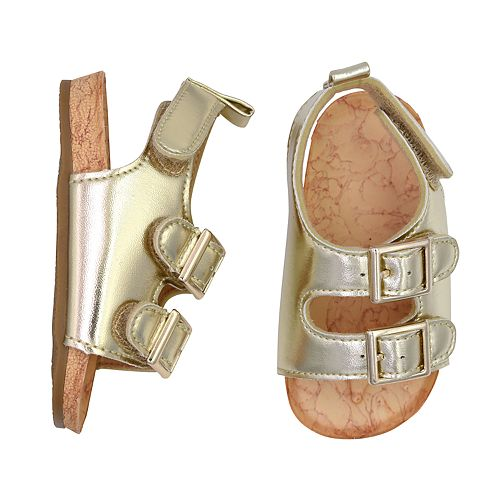 Baby Girl Goldbug Metallic Sandal Crib Shoes