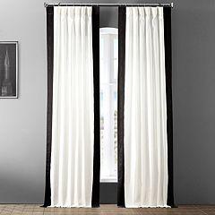 EFF 1-Panel Popcorn Vertical Colorblock Panama Curtain