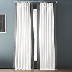 EFF 1-Panel Popcorn Vertical Colorblock Panama Curtain