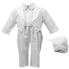 Baby Boy Small World 5 Piece Christening Tuxedo Pant Set