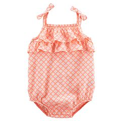 Baby Girl Carter's Floral Ruffled Sunsuit