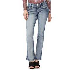 Juniors' Wallflower Luscious Curvy Bling Bootcut Jeans