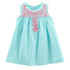 Baby Girl Carter's Embroidered Swing Dress