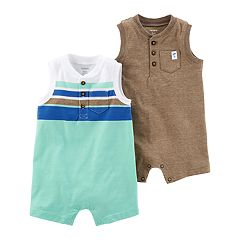 Baby Boy Carter's 2-pack Henley Rompers