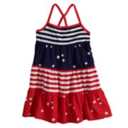 Toddler Girl Jumping Beans® Tiered Patriotic Tank Dress