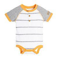 Baby Boy Burt's Bees Baby Striped Organic Henley Bodysuit