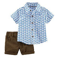 Baby Boy Carter's Whale Shirt & Cuffed Shorts Set