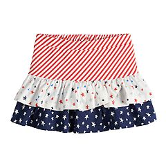 Toddler Girl Jumping Beans® Patriotic Tiered Skort