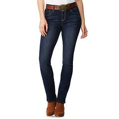 Juniors' Wallflower High Rise Mini Bootcut Jeans