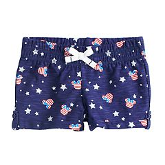 Disney's Minnie Mouse Toddler Girl Americana Print Slubbed Shorts by Jumping Beans®