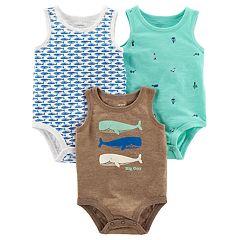 Baby Boy Carter's 3-Pack Sleeveless Bodysuits