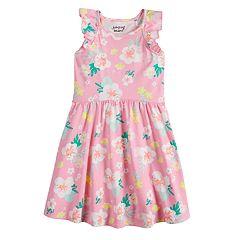 Girls 4-10 Jumping Beans® Flutter Sleeve Pattern Dress