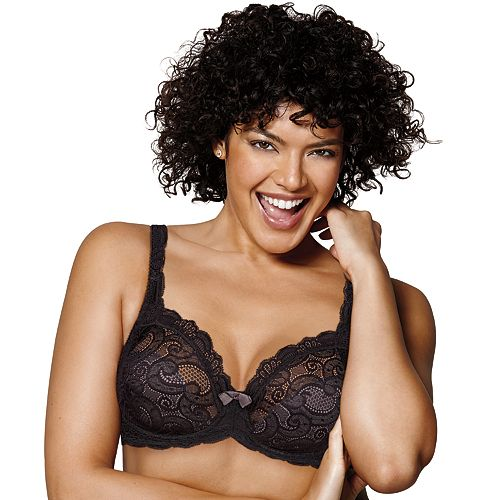 Playtex Bras: Love My Curves Beautiful Lace & Lift Full-Figure Underwire Bra US4825
