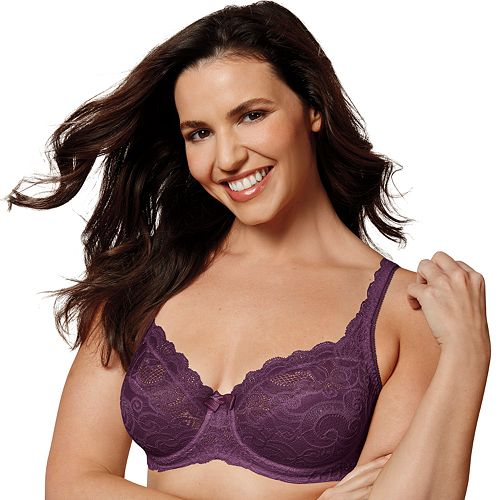cc793a3a5c3 Playtex Bras  Love My Curves Beautiful Lace   Lift Full-Figure Underwire Bra  US4825