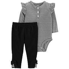 Baby Girl Carter's Striped Henley Bodysuit & Pants Set