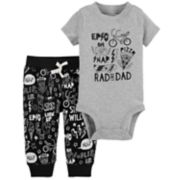 "Baby Boy Carter's ""Rad Like Dad"" Graphic Bodysuit & Printed Pants Set"