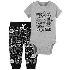 Baby Boy Carter's 'Rad Like Dad' Graphic Bodysuit & Printed Pants Set