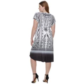 Plus Size World Unity Printed Sublimation Dress