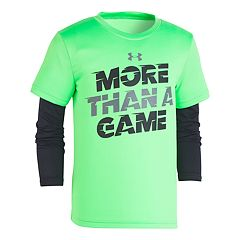 Boys 4-7 Under Armour 'More Than A Game' Mock Layer Tee