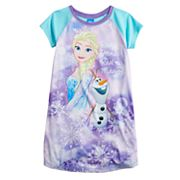 Disney's Elsa & Olaf Girls 4-8 'Real Friends Real Magic' Nightgown