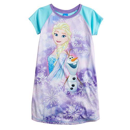 "Disney's Elsa & Olaf Girls 4-8 ""Real Friends Real Magic"" Nightgown"