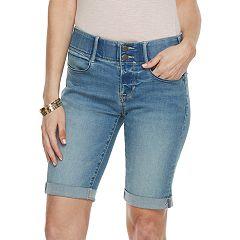 Women's Apt. 9® Tummy Control Bermuda Jean Shorts